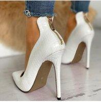 2021 Kadın Yaz Yüksek Yeni Moda Katı Ince Topuk Bayanlar Iş Sivri Burun Pompaları Ayakkabı Ofis XT4P