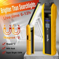 LED Worklight Flashlight Rechargeable With Magnet Light Portable COB Lamp Car Rotatable 210608