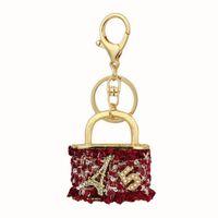 أزياء حقيبة يد الحلي الكريستال تمهيد المعادن المرأة حقيبة قلادة حجر الراين سلاسل المفاتيح للسيارة هدية عيد الميلاد