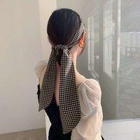 Nouveau printemps étranger coiffe de coiffe de coiffe de tête de tête fille ligoté de la soie coréenne