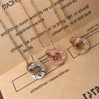 Trinity series Factory direct sales luxury diamonds Pendant necklaces 2021 new brand designer Top quality popular Lettering 18k brass gilded classic style Jewelry