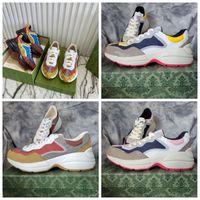 Rhyton Sneaker 남성 트레이너 빈티지 럭셔리 Chaussures 숙 녀 캐주얼 신발 디자이너 운동화 Vintages 트레이너 크기 35-45