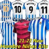 Real Sociedad Camisa de futebol 19/20 Final Copa Del Rey Soccer Jersey 2020 2021 Camisetas Oyarzabal Portu Bautista Silva Isak Merino Homens crianças kits Jerseys Uniforme