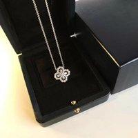 Jewelry Necklace Diamond Loop Garden Series 925 Silver Flower Diamond Ring Pendant Necklace Women Banquet Statement necklace