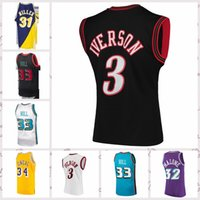 Vintage Mens Baloncesto Jersey Earvin 32 Johnson Auténtico Stitched Retro 23 Larry Tamaño S-2XL
