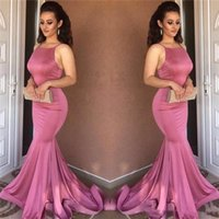 Spaghetti Straps Mermaid Prom Dresses Formal Dresses Evening Wear Sweep Train 2022 Long Party Gowns