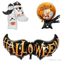50 unids / set Halloween Globos Bat, Spirit Host, árbol fantasma Decoración de Halloween Decoración de halloon Globo Inflable Juguete Fiesta de juguete JK1909