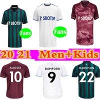 20 21 Leeds Home Soccer Jerseys United T Roberts 2020 2021 Jersey Harrison Klich Alioski Bamford Herren + Kinderanzug Fussball Hemden