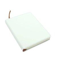 Bloco de notas A6 Sublimação Notepad DIY Branco Em branco PU Jornal de couro com fita dupla face Business Office Material