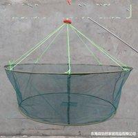 25 Reticolato pieghevole di alta qualità Grande rete netta in nylon in nylon durevole di atterraggio reti gamberetti esca granchio gamberetti pesci trappola da pesca rete da pesca 334 x2