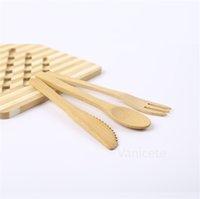 Bambu Bıçak Çatal Kaşık Seti Taşınabilir Meyve Çatal 16 cm Sağlık Kaşık Küçük Bambu Sofra Seti ZC091