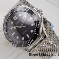 Наручные часы Bliger Black Mechanical 41mm Мужские Часы 24 Драгоценности NH35A Miyota 8215 Движение Сталь Браслет Светящаяся Цвета Прижвана Корона