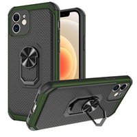 Magnetic Ring Holder Phone Cases Thin TPU PC Armor Cover design for iPhone 13 12 mini 11 pro max 6s 7 8 xr xs Samsung Galaxy A03S A02 A10S A20S A21S A51 A71 kickstand case