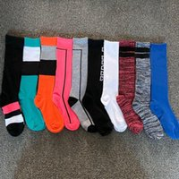 Pink Black Letter sock Without Tag Cotton Breathable Quick Drying Long Socks Slipper Sport Summer longSock WLL1151