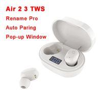 AIR GEN 2/3 TWS Auriculares Renombrar PRO Pop Up Window Bluetooth Auriculares AUTOMÁTICO Caja de carga inalámbrica Auriculares