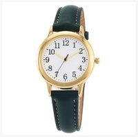 Clear Numbers Fine Leather Strap Quartz Womens Watches Simple Elegant Students Watch 31MM Round Dial Wristwatches