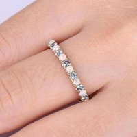 Donne Moda Rhinestone Ring Anello carino Party Wedding Engagement Party Anello di nozze gioielli gioielli regalo femmina1