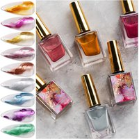 Nail Gel 15ml Polish Metal Blossoming With Glitters Marble Quick Dry Ink Painting Gradient Watercolor Color 9 C
