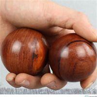 2 PCS Wood Fitness Ball Massage Salle de gym Santé Méditation Santé Exercice Soulagement Soulagement Balles Balles Relaxation Therapy 142 W2