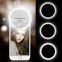 USB şarj led selfie yüzük ışık cep telefonu lens led selfie lamba yüzük iphone için samsung xiaomi telefon selfie ışık için