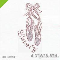 Spedizione gratuita Lovely balletto scarpe di danza del rhinestone ferro sul trasferimento per la danza Dhotfix Strass IY DH0391 #