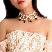 1 pcs femmes femme collier chaîne pendentif imitation perles décoration bijoux cadeaux lxh