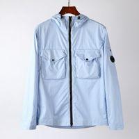Mens Jacket Topstoney CP Sweatshirt Cyberpunk Casual Streetwear Zipper Outdoor Hood Windbreaker Mens Coat Hoodies M-XXL