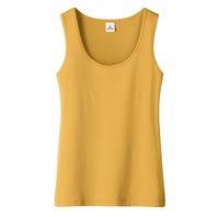 Maglietta gialla 2021 Donna Sport Casual Colore puro Nessuno Manica Magliette Estate Abbigliamento Donna Gym Gym Bodybuilding senza maniche
