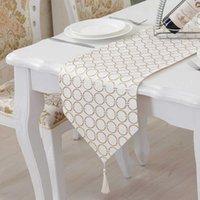 Tuedio Luxury Cloth S Plata Dorado Tabla Sin fin Tabla Corredor Banquete Decoración de la boda Tafeller