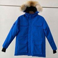 Winter Down Parka Homme Jassen Chaquetas Outerwear Wolf Fur Hooded Fourrure Manteau Wyndham Canada Jacket Coat Hiver Doudoune v5cb#