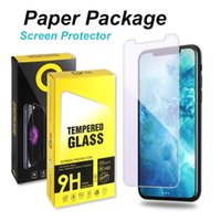 9H Screen Protector for iPhone 12 11 Pro Xs Max X 7 8 Plus Tempered Glass with retail box Full Cover Glue