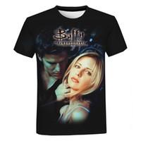 Buffy The Vampire Slayer 3D Druck T-shirt Männer Frauen Mode Lässig Kurzarm T-shirt TV-Serie Harajuku Streetwear