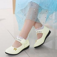 Sandals Children Kid Baby Girl Shoes Flower Leather Single Soft Dance Princess For Zapatos Para