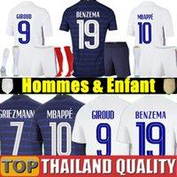 Francia maglie da calcio 2020 ° anniversario di UEFA EURO nuovi campioni di coppa del mondo GRIEZMANN MBAPPE POGBA KANTE GIROUD uomini donne kit per bambini uniforme