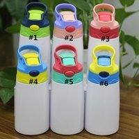 fedex DIY 12OZ sublimation watter bottle tumblers stainless steel sippy cup straw cups good quality for kids ZYY