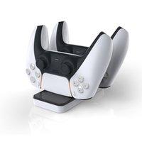 소니 P-5 플레이 스테이션 5 PS5 게임 컨트롤러 용 충전기 도크 듀얼 포트 스탠드 스테이션 표시기베이스 DOBE 빠른 충전 DHL