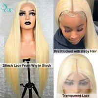 613 Honig blonde Perücke Teil Spitze Front Menschliches Haar Perücke Prepucked Brasilianer mit Baby Hair Bone Straight Human forwomen