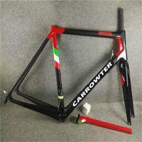 Carrowter C64 الكربون الطريق الإطار دراجة ألياف الكربون دراجة إطارات اللامع