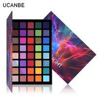 Ucanbe scheinwerfer 40 farbe lidschatten palette bunte künstler schimmern glitter matt pigmentiertes puderpressted eyeshadow make-up kit