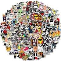 10/50 / 100pcs Bande de roche Cool Hop Hop Meme Stickers Aesthétiques pour la guitare de portable Guitare étanche Stickers Stickers Stickers Packs Jouets Enfants