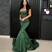 Vestidos de baile verde escuro 2021 Novo Formal Evening Sereia Partido A-Line Vestidos Africano Negro Meninas Custom Feito Barato