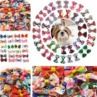 Nuevos suministros para perros PET HABITACIONES Plaid Bow Series Classic Pet Accesorios para el cabello PET Head Flower Dog Horching ZC098