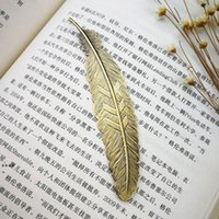 Fashion Metal Feather Bookmark Document Livre Mark Label Golden Silver Bookmarks Bookmarks Office School Fournitures NHF8884