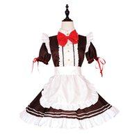 Thema Kostüm Weibliche Halloween Cosplay Dress Up als Maid-Schürze Kaffee Servernat Lolita Retro Sexy Bow Anime BodyDoll Ntee