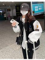Women's Jackets Splicing Baseball 2021 Spring And Autumn Korean Loose Jacket