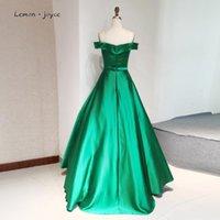 Party Dresses Lemon Joyce 2021 Green Prom Dress Off Shoulder A-Line Boat Sweetheart Neck Women Formal Gowns Evening