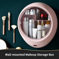 Jewelry Pouches, Bags 33.3*38.5cm Bathroom Wall-mounted Makeup Storage Box Without Punching Large-capacity Cosmetic