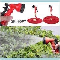Equipements Fournitures Patio, pelouse Home Gardengarden Extensible Tuyau de tuyau d'eau flexible 25/50 / 75 / 100ft Kit avec pistolet Jardin Arrosoir Ki