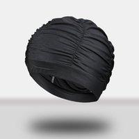 Hot Elastic impermeável Proteger orelhas de cabelo longo cabelo esportes nadar banho chapéu natação bonés de silicone borracha colorido adulto homens mulheres