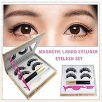 False Eyelashes Two Pairs Of Glue-free Eyeliner Eyelashes, Curling Eyelash Makeup, 2 Women's Fashion Liquid Eyeliner,